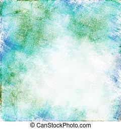 azul verde, aquarela, fundo