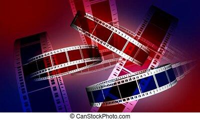 azul vermelho, película