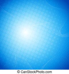 azul, vetorial, abstratos, fundo