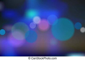 azul, vetorial, bokeh, fundo