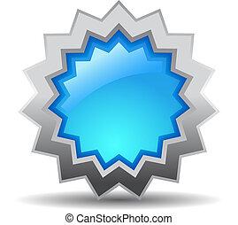 azul, vetorial, estrela