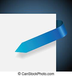 azul, vetorial, illustration., em branco, etiqueta