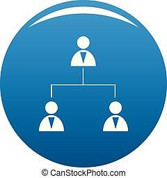azul, vetorial, negócio, estrutura, ícone