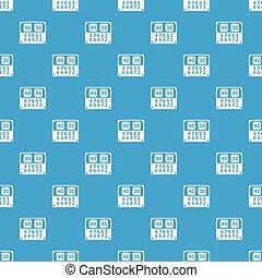 azul, vetorial, padrão, seamless, contagem, tábua, partida