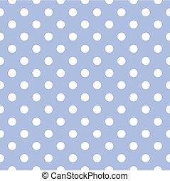 azul, vetorial, ponto polka, fundo