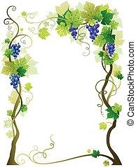 azul, viña, marco
