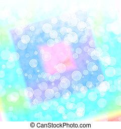 azul, vibrante, luzes, bokeh, blurry experiência