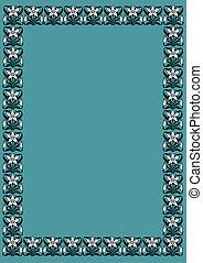 azul, victoriano, plano de fondo