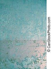 azul, viejo, pared, textura, pintura, grunge, viejo