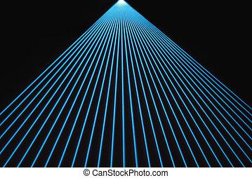 azul, vigas, laser