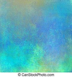 azul, vindima, abstratos, fundo
