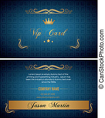 azul, vip, tarjeta