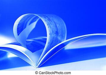 azul, voando, páginas
