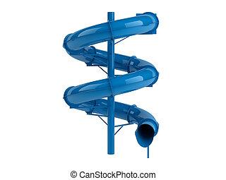 azul, waterslide