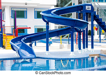 azul, waterslide