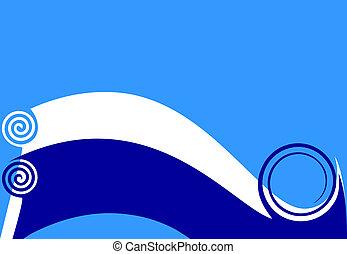azul, wave.