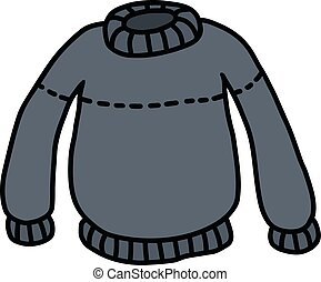 azul, woolen, suéter