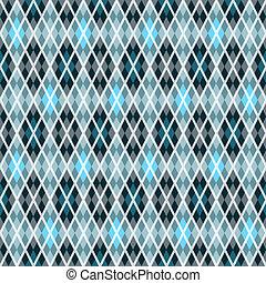 azul, y, gris, seamless, patrón
