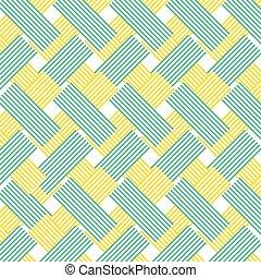 azul, zag, linhas, amarela, zig, padrão experiência
