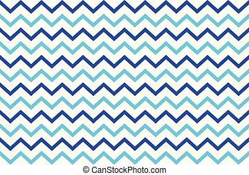 azul, zag, listras, zig, fundo, branca