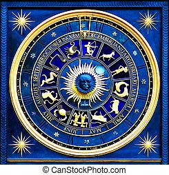azul, zodíaco
