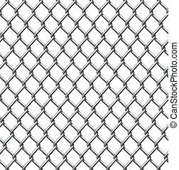 azulejo, alambre, seamless, cerca