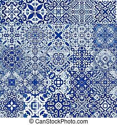 azulejo, antigüedad, portugués, ceramic.