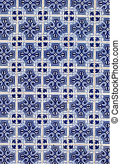 Azulejo background, portuguese or moroccan, tiles, arabic wall design