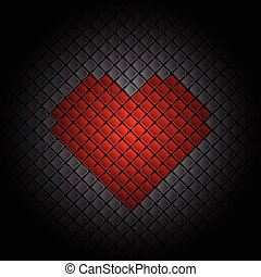 azulejo, corazón, plano de fondo