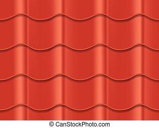 azulejo de la azotea, cerámico, patrón, corrugado, seamless