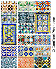 Azulejo, (from the Arabic word Zellige) is a form of Portuguese painted, tin-glazed, ceramic tilework. It has become a typical aspect of Portuguese culture