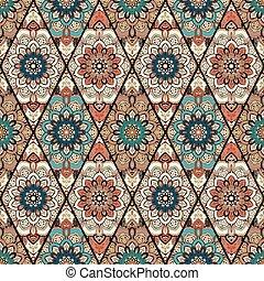 azulejo, flor, rhombus