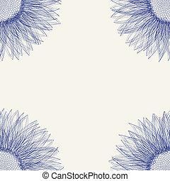 azulejo floral, girasol