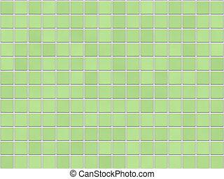 azulejo, fondo verde