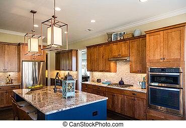 azulejo, granito, cozinha