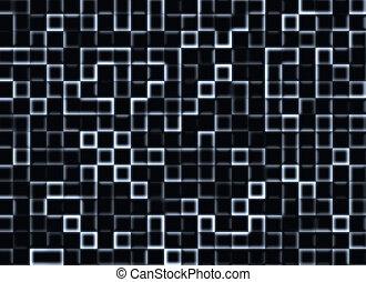 azulejo, neón, plano de fondo