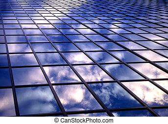 azulejo, nuvens