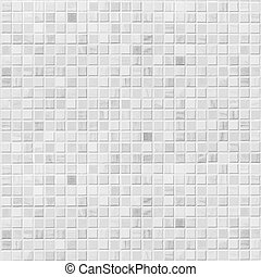 azulejo, pared, blanco
