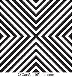 azulejo, patrón, blanco, vector, negro