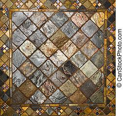 azulejo, patrón, cerámico