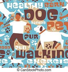 azulejo, perro caminante