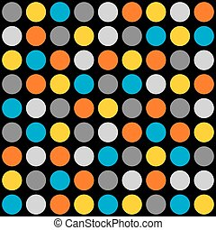 azulejo, pontos, vetorial, coloridos, padrão