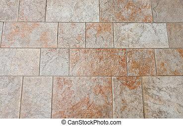 azulejo, pulido, piso