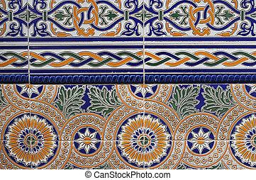azulejo, stile, espanhol