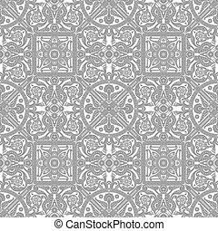 azulejo, vindima, desenho, padrão