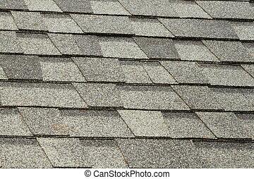 azulejos, asfalto, techo
