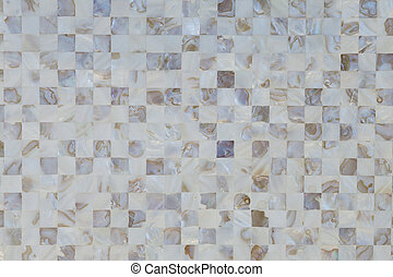 azulejos, cáscara, color, neutral, mosaico, textured, ostra