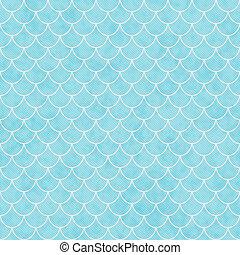 azulejos, cáscara, pauta fondo, repetición, cerceta, blanco