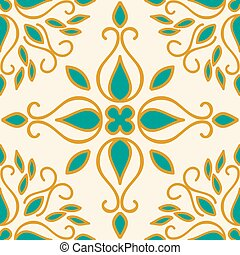 azulejos, colorido, marroquí, vector, ilustración, ornaments...