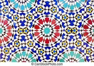 azulejos, colorido, mosaico